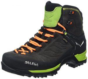 Salewa Ms Mtn Trainer Mid Gtx, Herren Trekking- & Wanderstiefel, Schwarz (Black/Sulphur Spring 0974), 43 EU