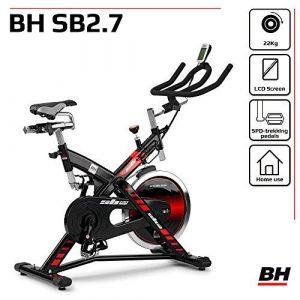 BH Fitness SB 2.7 H9174F – Indoorbike/Indoorcycling – 22kg Schwunggewicht/ PoliV-Riemen/ LCD-Monitor