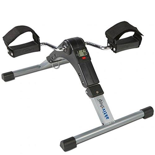 maxVitalis Faltbarer Mini-Heimtrainer Pedaltrainer Arm- und Beintrainer mit LCD-Display und stufenlos einstellbaren Widerstand