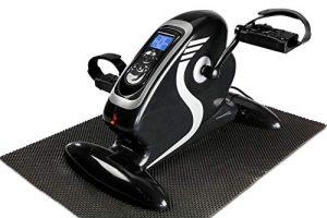 maxVitalis Elektro Mini Bike Arm- und Beintrainer, Heimtrainer, Pedaltrainer, Bewegungstrainer mit Trainingsdisplay, Massage-Handgriffe, Schwarz/Silber