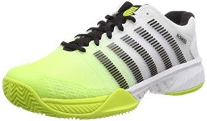 K-Swiss Performance Herren Hypercourt Express HB Tennisschuhe, Weiß (White/Neon Yellow/Black 170M), 46 EU