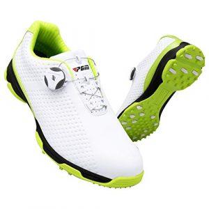 Dhrfyktu Golfschuhe Spikes weniger Schuhe Wasserdichte Anti-Rutsch-Drehknöpfe Abriebfestigkeit multifunktional im Freien (Color : Green, Size : 41)