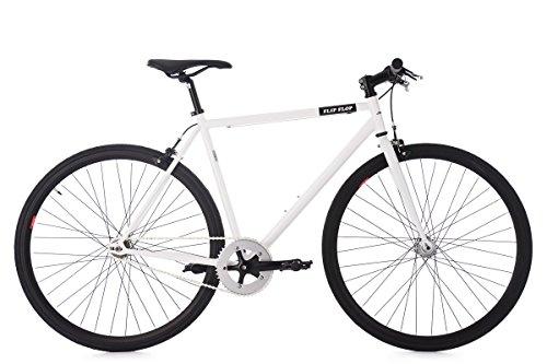 KS Cycling Fixie Fitnessbike 28'' Flip Flop weiß RH 59 cm Fahrrad, 28