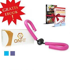 OnFit Oberschenkeltrainer   Premium QUALITÄT  inkl. Trainingshandbuch & Ernährungs eBook!   multifunktional   Heimtrainer mit superweichen Schaumstoff
