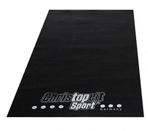 Christopeit Bodenschutzmatte, schwarz, 160 x 84 x 0.3 cm, 1399