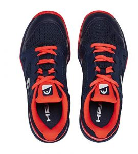 Head Sprint 2.5 Junior, Unisex-Kinder Tennisschuhe, Blau (Dark Blue/Neon Red Dbny), 37 EU (4.5 UK)