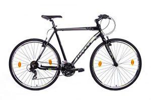 tretwerk DIREKT gute Räder Leader Action 1.0 28 Zoll Fitnessbike Schwarz