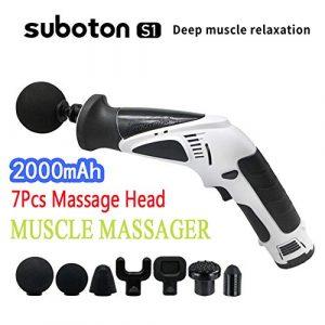 BUDAOWENG Körpermassage-Therapie Geräuschloses Massagegerät Körper Entspannen Muskelmassagegerät Handgewebemassager-Pistole, Schnurlose Muskelstimulation Vibrationsgerät