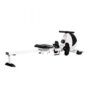 AsVIVA RA8 Rudergerät Rower Cardio VIII inkl.Fitnesscomputer und Pulsempfänger mit 10kg Schwungmasse sowie 8 manuellen Widerstandsstufen und klappbar, Weiß/Schwarz, One Size