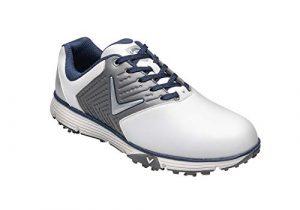Callaway Herren Chev Mulligan S Waterproof Lightweights Golfschuhe, Weiß White/Grey, 43 EU