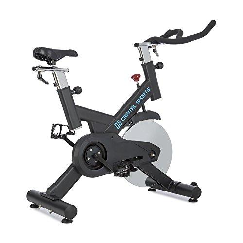 Capital Sports Ergo Bike Radical Arc X18 • Indoor Bike • Fahrradergometer • Heimtrainer • Trainingsrad • bis 120 kg • Drehregler • Verstellbarer Sattel • gewuchtete Schwungscheibe mit 18 kg • schwarz