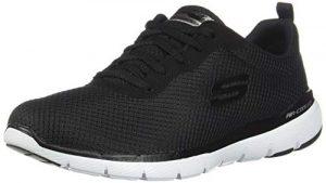 Skechers Damen Flex Appeal 3.0 Sneaker, Schwarz (Black White BKW), 38 EU