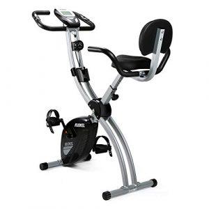 KUOKEL – Exercise Bike Fitnessbike F-Bike Heimtrainer mit Digitaler Monitor (Hometrainer 8 Widerstandsstufen Pulsmessung Sicherheit leises udn faltbares Fitnessgerät bis 100kg)