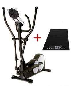 Trainer4you Crosstrainer Ergometer C17 mit 16 kg Induktionsbremssystem, Pulssensoren, großem Display, 32 Widerstandsstufen – inkl. Matte