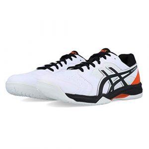 ASICS Herren Gel-Dedicate 6 Tennisschuhe, Mehrfarbig (White/Black 100), 41.5 EU