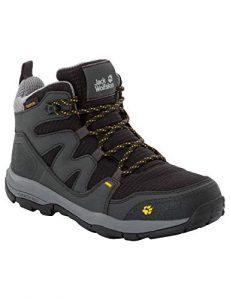 Jack Wolfskin Unisex-Kinder MTN Attack 3 Texapore Mid Trekking- & Wanderstiefel, Grau (Burly Yellow Xt 3802), 38 EU