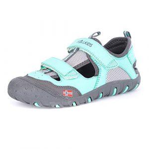 Trollkids Kinder Sportsandale Lillesand Sandale, Mint/Marineblau, Größe 40