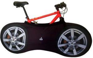 YISAMA Fahrradabdeckung für Lagerung Innenraum, Schmutzfrei und Dekorativ Motiv Reifen