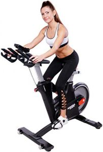 Miweba Sports Profi Indoor Cycling Bike MS600 Pro Ergometer Heimtrainer – App-Steuerung – Wirbelstrom Magnetbremse Pulsgurt