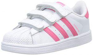 adidas Unisex-Kinder Superstar Cf I Fitnessschuhe, Weiß (Blanco 000), 24 EU