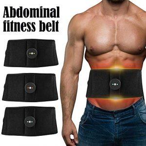 Ksruee Intelligente EMS Bauchtraining, Wireless EMS Muskeltrainings Gürtel, Bauchmuskel-Gürtel, Strafft die Bauchmuskeln, Muskelaufbau & Fettabbau – Body-Shaping für alle/Männer & Frauen
