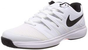 Nike Herren Air Zoom Prestige Hc Tennisschuhe, Mehrfarbig (White/Black-Bright Crimson 106), 44 EU