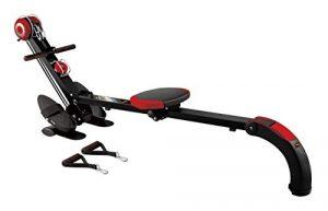 Body Coach Rudergerät ROWER N'GYM BR-3010 Ruderzugmaschine & universelles Trainingsgerät für Rudertraining, Fitness und Tube-Training grau / silber / schwarz
