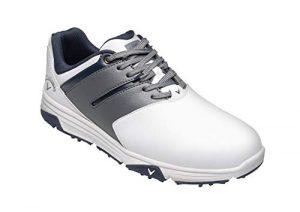 Callaway Herren Chev Mission Waterproofs Golfschuhe, Weiß White/Grey, 43 EU