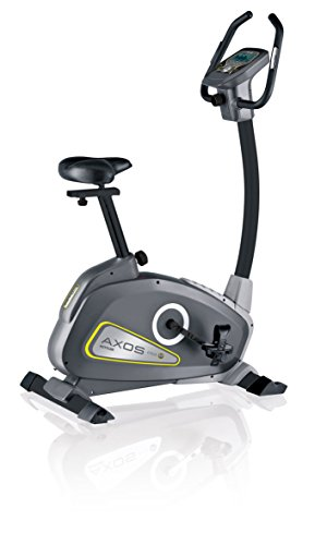 Kettler Heimtrainer Fahrrad AXOS Cycle P - mit 12 Programmen und 16 Stufen - idealer Hometrainer mit Trainingscomputer - inkl. Handpulssensoren - schwarz & anthrazit