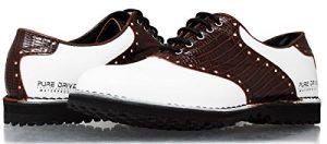 PORTMANN Golfschuhe für Männer | Hochwertiges Leder | Wasserdichte | Spikeless | Leicht und Flexibel | Pure DriveTec.