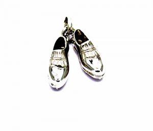 Pegaso Gioielli–anhänger gold weiß 18kt kleinen Golfschuhe–Anhänger Babyschuhe Herren Damen
