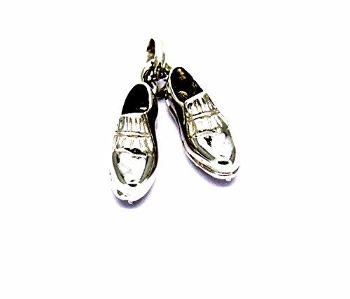 Pegaso Gioielli-anhänger gold weiß 18kt kleinen Golfschuhe-Anhänger Babyschuhe Herren Damen