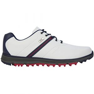 Stuburt 2017 Vapour eVent Waterproof Spikeless Lightweight Mens Golf Shoes White/Midnight 12UK