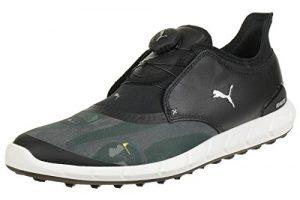 Puma Ignite Spikeless Sport Disc Flagstick Camo Herren Golfschuhe schwarz grau Größe 43