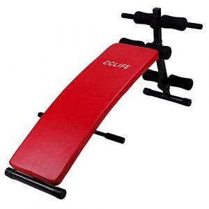 CCLIFE Sit Up Bank Trainingsbank Bauchtrainer Rückentrainer Klappbar 6-Fach verstellbar, Gepolsterte Beinfixierung, bis 120kg belastbar