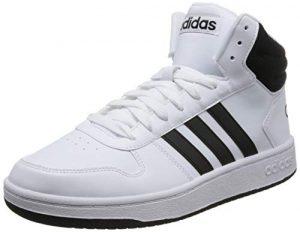 adidas Herren Hoops 2.0 Mid Fitnessschuhe, Weiß (Ftwbla Negbás 000), 42 EU