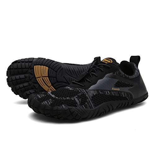Voovix Herren Trekkingschuhe Damen Wanderschuhe Barfußschuhe Laufschuhe Traillaufschuhe Knit Sneaker Fitnessschuhe im Sommer