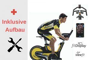 Horizon Fitness Profi GR7 Indoor Cycle Spinning Bike • inkl. Gratis Aufbau • Armtrainer Beintrainer Fahrradtrainer und Heimtrainer • Muskelaufbau und Ausdauertraining • Induktions-Magnet-Bremssystem
