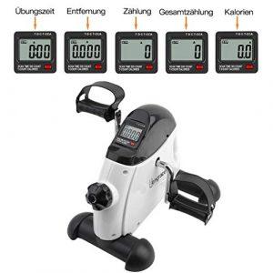 Homgrace Mini Bike Heimtrainer Mini Fitness Fahrrad Pedaltrainer Bewegungstrainer für Zuhause, Arm- und Beintrainer mit LCD-Display und Einstellbarer Widerstand für Senioren
