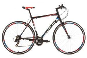 KS Cycling Uni Fahrrad Fitnessbike Alu-rahmen 28 Zoll Velocity 21-gänge RH 53 cm, Schwarz, 28, 123R