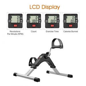 Finether Mini-Bike Heimtrainer Bewegungstrainer Pedaltrainer Arm- und Beintrainer Fahrradtrainer Heimfahrrad Trainingsrad Trainingsgerät