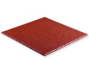 Waschmaschinen-Unterlage – Antivibrationsmatte – Schwingungsdämpfer – aus Gummigranulat (rot)