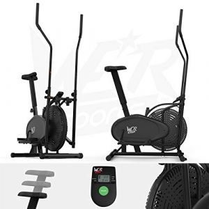 We R Sports 2-IN-1 Elliptical Cross Trainer & Exercise Bike Fitness Cardio Workout with SEAT