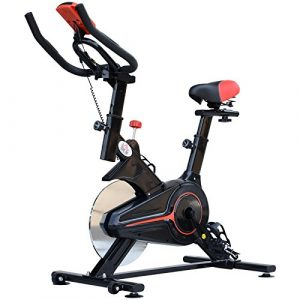 HOMCOM Indoor Cycling Bike Trainer Home Gym Fahrradtrainer Fitnessfahrrad 102x47x104cm
