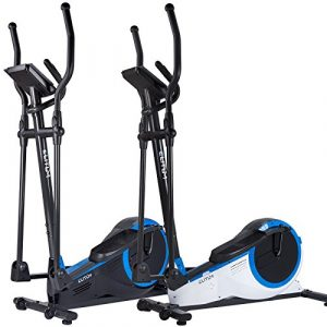 Elliptical Crosstrainer MX700 Ellipsentrainer Heimtrainer belastbar bis 150 kg Schwungmasse: 14,5 kg inkl. Computer Pulssensoren Smartphone-Halterung Schwarz
