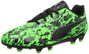 Puma Unisex-Kinder ONE 19.4 FG/AG Jr Fußballschuhe, Grün (Green Gecko Black-Charcoal Gray), 37 EU