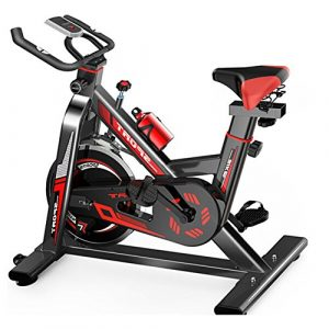 Melodycp Fahrrad für Indoor-Zyklusübung, Home Spinning Bicycle Ultra leise Exercise Bike Indoor Exercise Bicycle Fitness Equipment