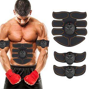 ZHENROG EMS muskelstimulator,Smart Fitness-Gerät EMS Bauchmuskel Trainingsmaschine, Bauchgürtel Muskelaufbau ABS, Wireless Portable Bauch/Arm/Bein Trainer für Männer oder Frauen