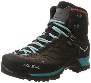 Salewa Damen Ws MTN Trainer Mid GTX Trekking-& Wanderstiefel , Grau (Magnet/Viridian Green 0674) , 35 EU