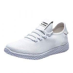 TWISFER Freizeitschuhe Herren Sneaker Sportschuhe Flyknit Mesh Tuch Atmungsaktiv Laufschuhe Ultra-Light Sport Sommerschuhe Schnürer Fitnessschuhe Shoes